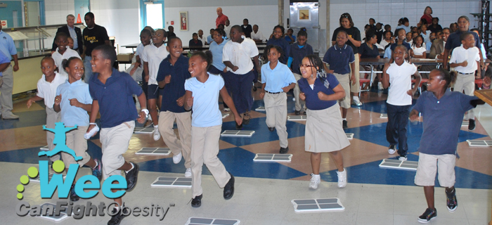 Wee Can Fight Obesity program in action at Sophia P. Kingston Elementary School.