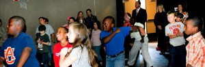 Randolph Elementary students demonstrate the WCFO Program.