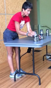 Emily Pharez shows us how Speed Stacking is done.